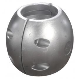Schroefas anode zink 19mm bol vorm