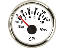 CN Oliedrukmeter wilt / chroom 0-10 bar