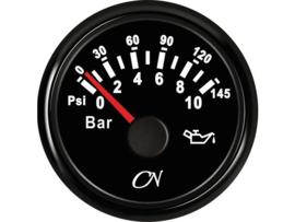 CN Oliedrukmeter zwart 0-10 bar