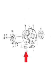 Volvo Penta Beschermkom rubber demper Volvo Penta 803748