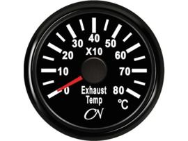 CN Uitlaattempratuurmeter zwart (pyrometer)