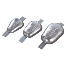 Tecnoseal anoden aluminium met stalen lasstrip type 2 0,6 kg