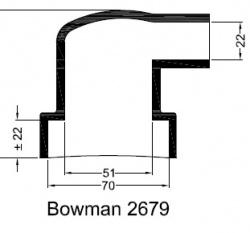 Bowman 2679 eindkap mof manchet  ø70mm ø22mm