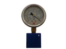 Vacuümmeter met aansluit blok