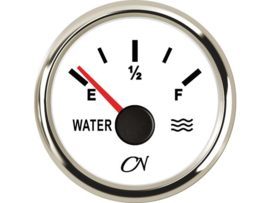 CN Watermeter wit / chroom
