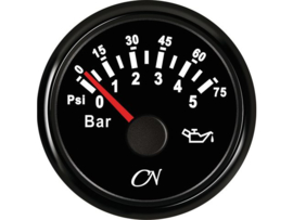 CN Oliedrukmeter zwart 0-5 bar