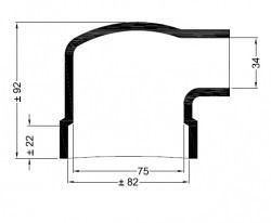 Universele eindkap  mof haaks ø82-ø75mm-82mm ø34mm