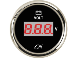 CN Digitale voltmeter zwart chroom