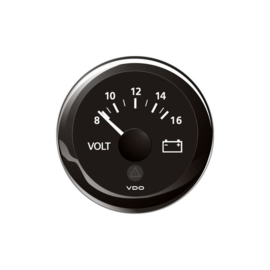 VDO voltmeter 8-16 volt zwart