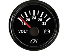 CN Voltmeter 8-36 volt zwart