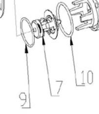 Nanni N3.30 en Nanni 4.38 thermostaat pakking nr 10