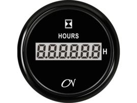 CN Bedrijfsurenteller digitaal / zwart