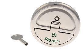 Quick Lock dekvuldop Diesel met sleutel recht 50mm
