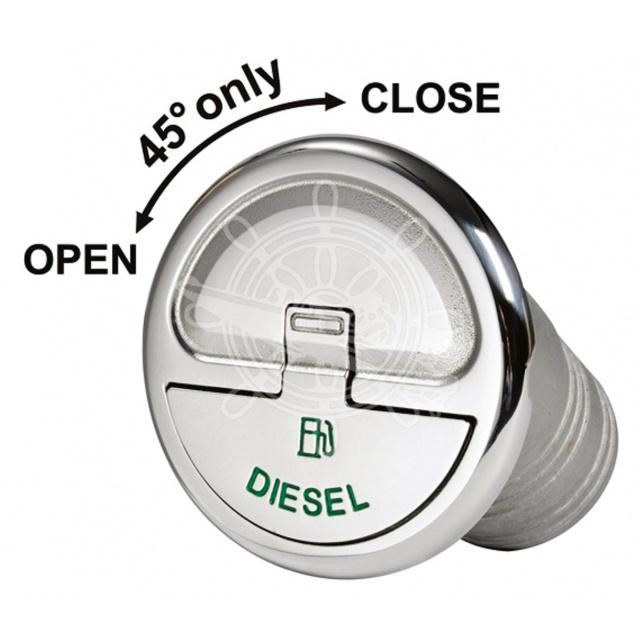 Quick Lock dekvuldop Diesel recht 50mm