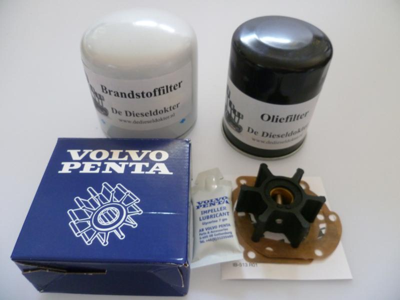 Volvo Penta MD2030B/C/D en Volvo Penta MD2040B/C/D service set met originele Volvo Penta impeller