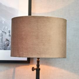 Velvet Cylinder Lampshade sand 20x30