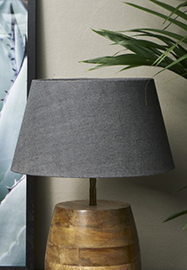 Loveable Linen Lampshade charc. 28x38