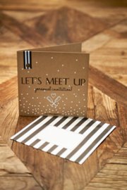 Postcard Let's Meet Up +envelope