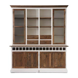 Driftwood Cabinet with winerack Double