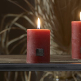 Rustic Candle withered rose 7x10