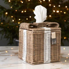 Rustic Rattan Lovely Bow Tissue Box
