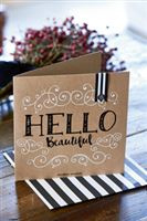Postcard Hello Beautiful +envelope