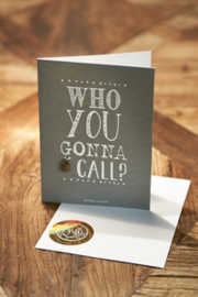Postcard Who You Gonna Call +envelope