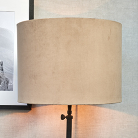 Velvet Cylinder Lampshade sand 30x40
