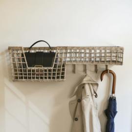 Rustic Rattan Elegant Basket Coat Rack