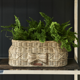 Rustic Rattan Bow Planter Oval