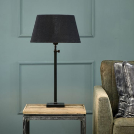 Linen Lampshade all black 28x38