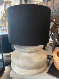 Tafellamp hout grijs L