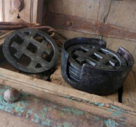 Metalen onderzetters