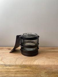 Ijzeren theelichthouder + glas Brynxz (Set - Small) - Ø9x11cm