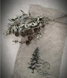 Shabby doek kerstboom