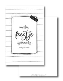 Minikaartje Een klein feestje in je brievenbus