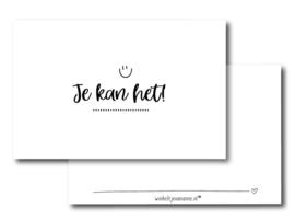 Minikaartje Je kan het!