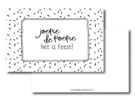 Minikaartje Joepie de poepie
