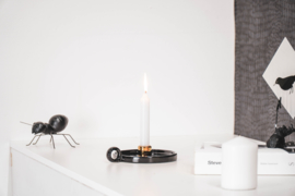 Housevitamin Ronde Kandelaar Zwart/Goud- 18,5x14,5x4