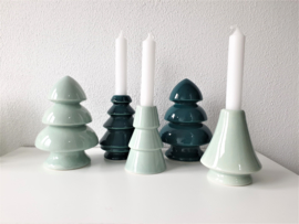 Candle Holder Tree Green Mint