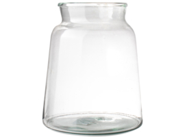 Vaas gerecycled glas 21x22cm