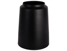 Vaas metaal 19,5x24,5cm | Zwart