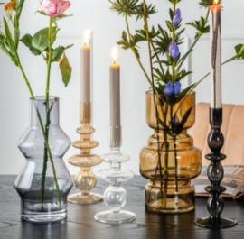 Vase Morgana Glass large | DARK GREY