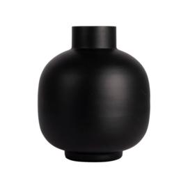 Vaas metaal 17x20cm | Zwart