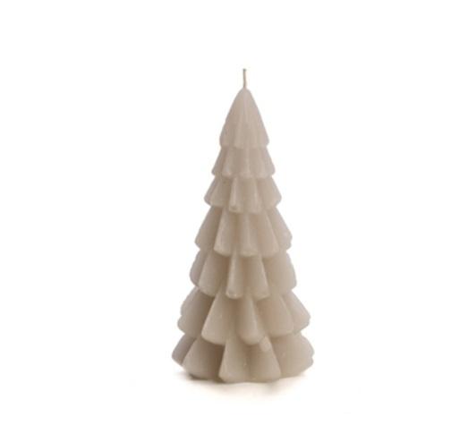 Kaars Kerstboom Linnen 12cm