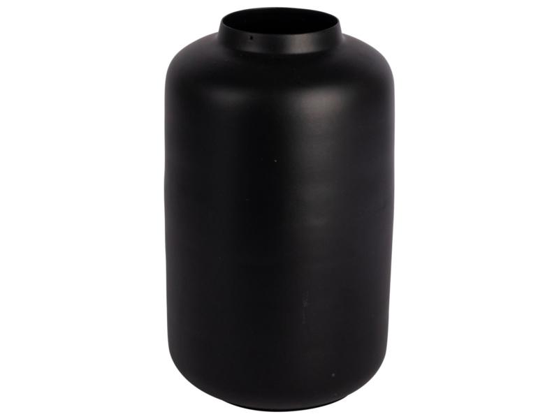 Vaas metaal 13x21,5cm | Zwart