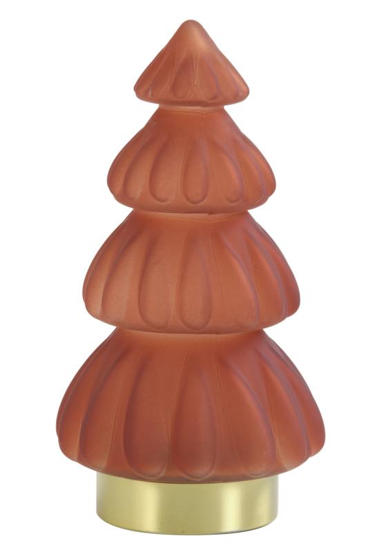 Tafellamp LED Ø15x28 cm TREE mat Bordeaux