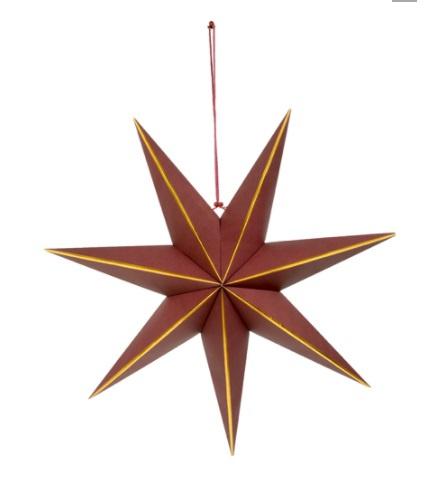 Deco Star L Aubergine/Gold