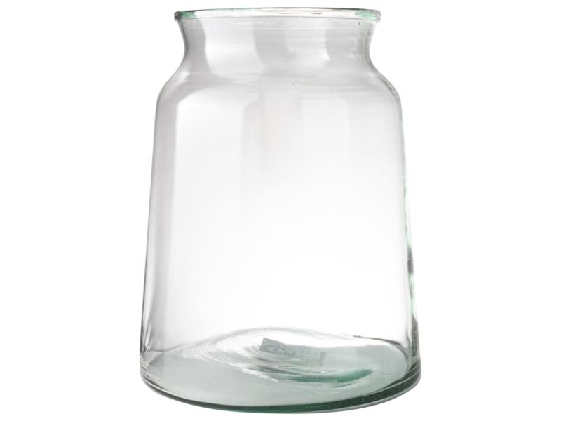 Vaas gerecycled glas 23x30cm