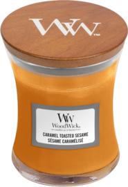 Woodwick Caramel Toasted Sesame Mini Candle
